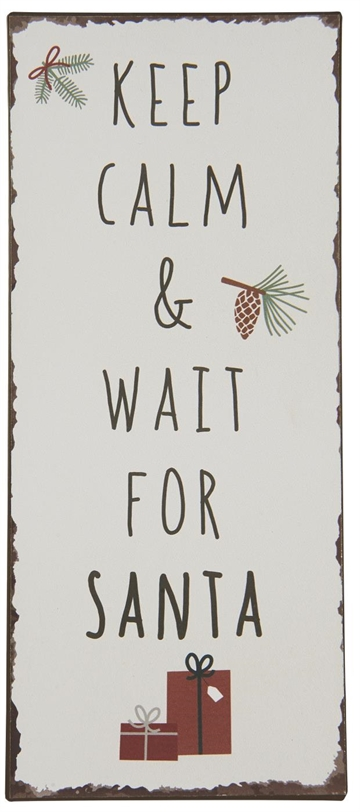 "2020 - Metalskilt - ""Keep calm & wait for Santa"""