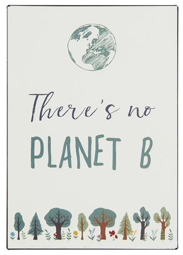 "Emaljeskilt - ""There is no PLANET B"""