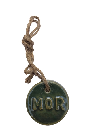 Badge i glaseret keramik - MOR - Ø4,5 cm