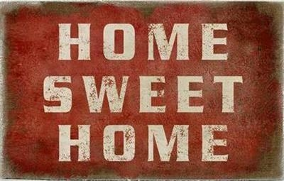 "Canvasbillede 26,5x42,5 cm ""Home sweet Home"""