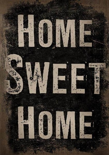 "Canvasbillede 50x70 cm - ""Home sweet......"""