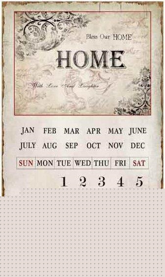 Emalje Evigheds Kalender ''Bless our Home''