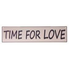 Emaljeskilt ''Time for love''