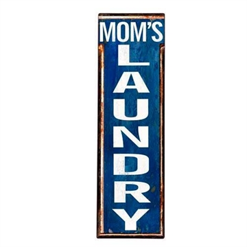 Emaljeskilt - ''MOM'S LAUNDRY''