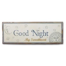 "Emaljeskilt - ""Good night my sweetheart"""