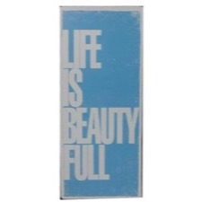 "Emaljeskilt - ""life is beautyfull"""