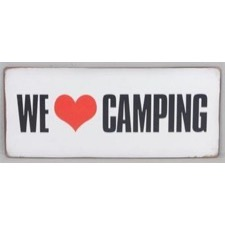 "Emaljeskilt ""We love Camping"""