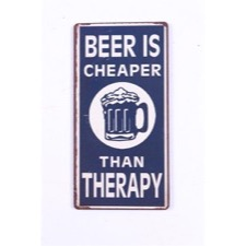 "Magnet 5x10 cm - ""Beer is cheaper...."""
