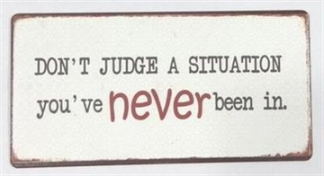 "Magnet 5x10 cm - ""Don't judge a ....."""
