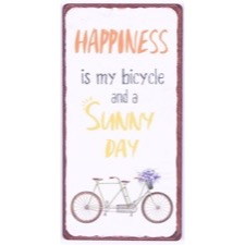 "Magnet 5x10 cm - ""Happiness is my bicycle and.."""
