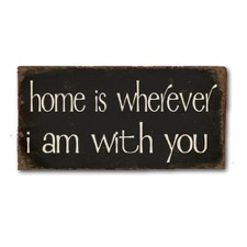 "Magnet 5x10 cm - ""Home is whereever..."""