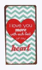 "Magnet 5x10 cm - ""I love you more......."""