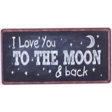 "Magnet 5x10 cm - ""I love you to the moon..."""