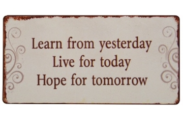 "Magnet 5x10 cm - ""Learn from yesterday..."""