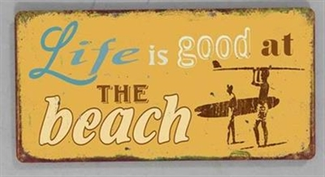 "Magnet 5x10 cm - ""Life is good at the beach"""