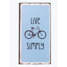 "Magnet 5x10 cm - ""Live simply"""