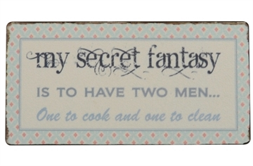 "Magnet 5x10 cm - ""My secret fantasy..."""