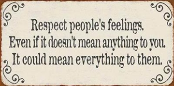 "Magnet 5x10 cm - ""Respect people's......."""