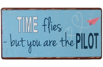 "Magnet 5x10 cm - ""Time flies - but ......"""