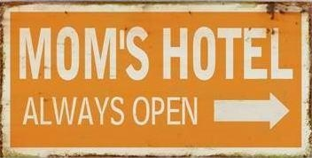 "Magnet 5x10 cm ""Mom's hotel - always open"" m.pil"