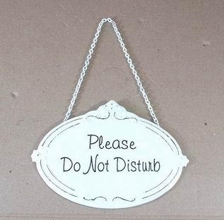 Ovalt emaljeskilt - ''Please do not disturb''