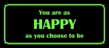 Postkort - You are as happy......