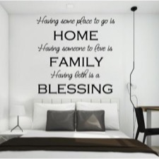 "Wallsticker ""Having some place...."""