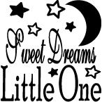 "Wallsticker ""Sweet dreams little one"""